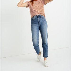Madewell classic straight denim jeans NWT
